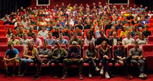 All 120 film students at European Film College gathered in the school's big cinema