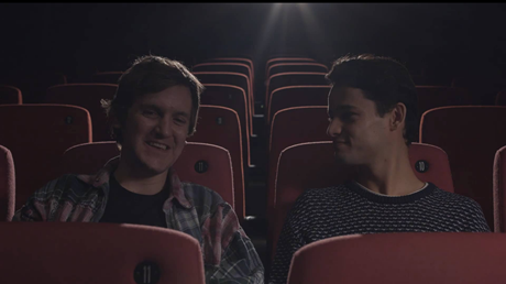Current student Ali Sharifi chats with actor and former student at European Film College Elliott Crosset Hove