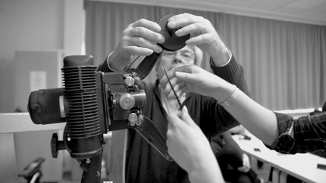 16mm film workshop with camera teacher Petru Maier - at European Film College